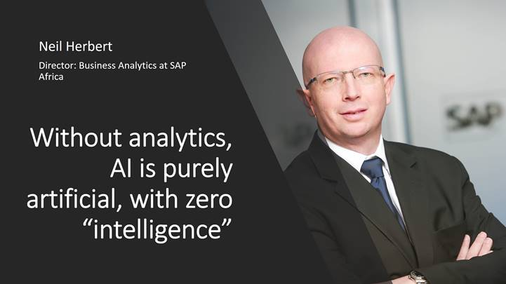 """Without analytics, AI is purely artificial, no """"intelligence"""""""