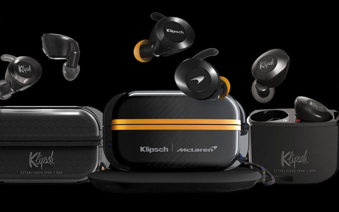 Klipsch Introduces McLaren Racing-Inspired True Wireless Sport Earphones