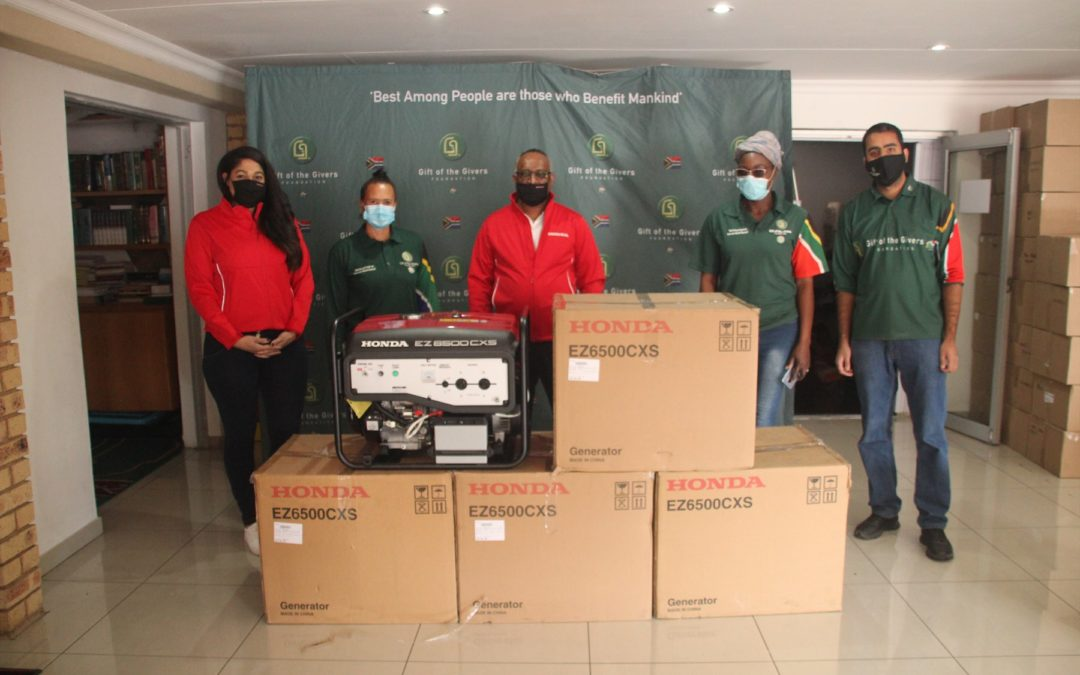 Honda Motor Southern Africa donates generators to support SA health services