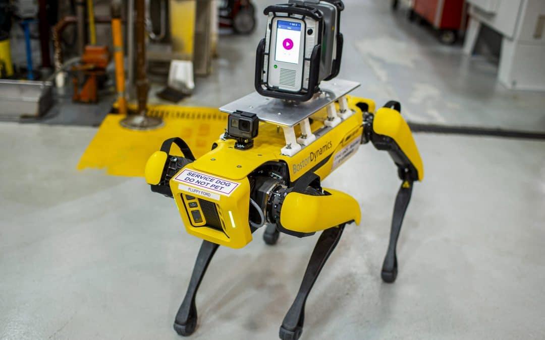 Ford, Ford Motor Company, robot, robotics, smetechguru, four legged robot, factory tech