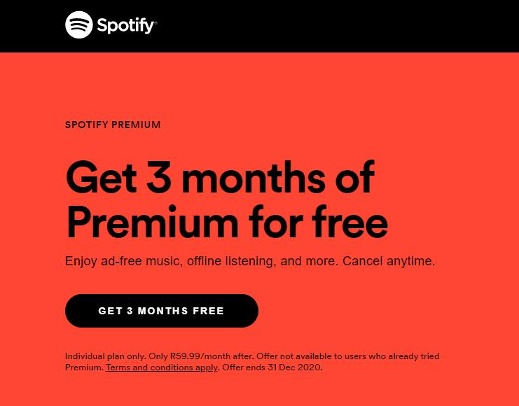 Spotify, Spotify Premium, smetechguru, music streaming, holiday offer